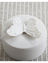 cheap -Circular Ceramic Favor Holder with Pattern / Print Favor Boxes - 1pc
