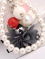 cheap -Birthday Friends Wedding Keychain Favors Fabrics Beads Alloy Keychain Favors - 1
