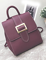 cheap -Women's Bags PU Tote Buttons for Shopping Casual All Seasons Green Black Red Purple Brown