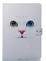 cheap -Case For Apple iPad 10.5 iPad (2017) Card Holder Wallet with Stand Pattern Auto Sleep/Wake Up Full Body Cases Cat Hard PU Leather for