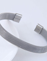 abordables -Femme Manchettes Bracelets simple Européen Alliage Twist Circle Bijoux Quotidien Bijoux de fantaisie Argent