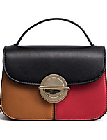 cheap -Women's Bags PU Tote Buttons for Shopping Casual All Seasons Black Red Brown