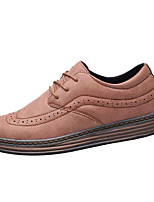 cheap -Men's Shoes PU Winter Comfort Oxfords for Casual Black Gray Brown