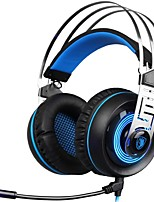 cheap -SADES A7-2 Headband Wired Headphones Dynamic Plastic Gaming Earphone with Microphone Headset