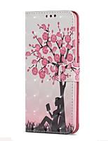 baratos -Capinha Para Samsung Galaxy S9 S9 Plus Porta-Cartão Carteira Com Suporte Flip Magnética Capa Proteção Completa Árvore Rígida PU Leather