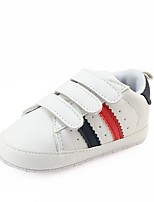 cheap -Girls' Shoes Leatherette Spring Fall Crib Shoes First Walkers Comfort Sneakers Magic Tape for Casual Outdoor White Black Red Green