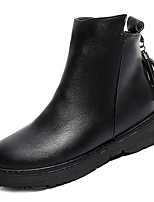 cheap -Women's Shoes Rubber Winter Fall Combat Boots Boots Chunky Heel Round Toe for Outdoor Black