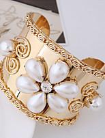 abordables -Femme Manchettes Bracelets Strass Européen Bijoux Fantaisie Résine Alliage Bijoux Soirée