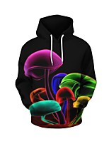 cheap -Men's Daily Geometric Hooded Hoodie Short, Long Sleeves Spring Fall Spandex