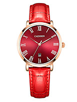 cheap -Women's Casual Watch Fashion Watch Wrist Watch Japanese Quartz Calendar / date / day Water Resistant / Water Proof Casual Watch Leather