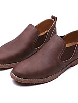 cheap -Men's Shoes Synthetic Microfiber PU Spring Fall Light Soles Loafers & Slip-Ons for Casual Dark Blue Light Brown Dark Brown