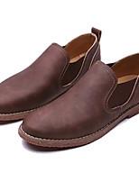 baratos -Homens sapatos Micofibra Sintética PU Primavera Outono Solados com Luzes Mocassins e Slip-Ons para Casual Azul Escuro Castanho Claro
