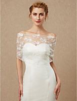 cheap -Sleeveless Lace Wedding Party / Evening Women's Wrap With Lace Lace-up Capelets