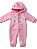 cheap -Baby Girls' Daily Sports Solid One-Pieces,Cotton Winter Fall Active Long Sleeve Blushing Pink