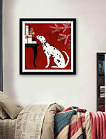cheap -Animals Cartoon Illustration Wall Art,Plastic Material With Frame For Home Decoration Frame Art Living Room