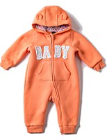 cheap -Baby Girls' Daily Sports Solid One-Pieces,Cotton Winter Fall Active Long Sleeve Orange