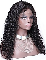 cheap -Unprocessed Virgin Human Hair Human Hair Lace Front Wig Brazilian Hair Curly Jerry Curl With Baby Hair 130% Density Unprocessed 100%