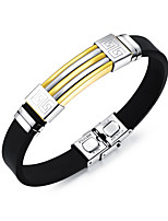 cheap -Men's Bangles ID Bracelets , Cool Fashion Stainless Steel Line Jewelry Daily Going out