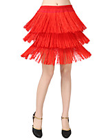 cheap -Latin Dance Bottoms Women's Training Polyester Split Joint Wave-like Dropped Skirts