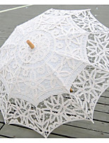 cheap -european - style hook flower lace wedding props photography dance umbrella rain umbrella beige