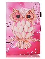 cheap -Case For Samsung Galaxy Tab A 10.1 (2016) Card Holder Wallet with Stand Pattern Auto Sleep/Wake Up Full Body Cases Owl Hard PU Leather for