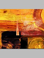cheap -Hand-Painted Abstract Horizontal, Comtemporary Canvas Oil Painting Home Decoration One Panel
