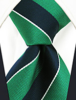 cheap -Men's Work Casual Rayon Necktie - Striped Color Block, Basic