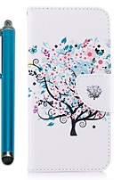 cheap -Case For Apple iPhone X iPhone 8 Plus Card Holder Wallet with Stand Flip Magnetic Full Body Cases Tree Hard PU Leather for iPhone X