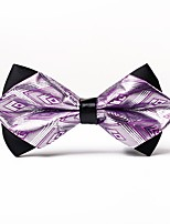 cheap -Men's Polyester Bow Tie, Casual Jacquard All Seasons Purple
