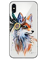 cheap -Case For Apple iPhone X iPhone 8 Ultra-thin Transparent Pattern Back Cover Animal Soft TPU for iPhone X iPhone 8 Plus iPhone 8 iPhone 7