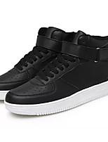 Недорогие -Муж. обувь Полиуретан Весна Осень Светодиодные подошвы Кеды для Повседневные Белый Черный Черно-белый