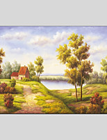 cheap -Hand-Painted Landscape Horizontal Panoramic, Modern Oil Painting Home Decoration One Panel
