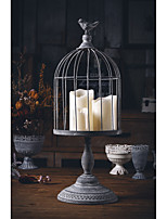 cheap -european iron creative retro birdcage carved candle holder creative romantic table decorations ornaments