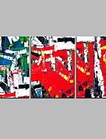 cheap -Hand-Painted Abstract Horizontal Panoramic, Comtemporary Canvas Oil Painting Home Decoration Three Panels
