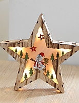 cheap -Nordic Style Wood Led Christmas Decorative Light Star Christmas Decorations Night Light