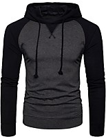 cheap -Men's Long Sleeves Hoodie - Solid Colored Hooded