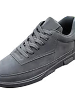 cheap -Men's Shoes Leatherette Spring Fall Light Soles Sneakers for Casual Black Gray Khaki