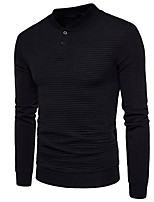 cheap -Men's Daily Solid Color Shirt Collar Sweatshirt Regular, Long Sleeves Spring Polyester