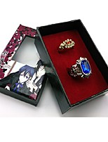 cheap -Jewelry Inspired by Black Butler Ciel Phantomhive Anime Cosplay Accessories Rings Resin Chrome