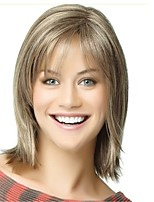 cheap -women's synthetic capless wig natural hair blonde medium bob wig celebrity wigs