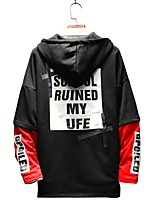 cheap -Men's Plus Size Hoodie - Striped Letter