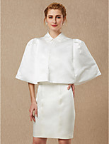 cheap -Sleeveless Satin Wedding Party / Evening Women's Wrap With Buttons Ruching Coats / Jackets