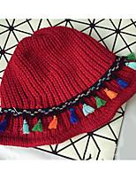 cheap -Cotton Floppy Hat, Casual Winter Fall Black Red Dark Gray Beige Navy Blue