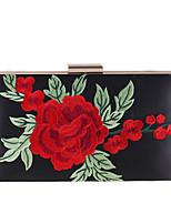 Недорогие -Мешки Полиэстер Вечерняя сумочка Вышивка для Свадьба Для праздника / вечеринки Все сезоны Белый Черный Розовый