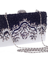 cheap -Women's Bags Polyester Evening Bag Crystal Detailing for Event/Party All Seasons White