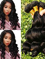 Недорогие -Бразильские волосы Свободные волны Ткет человеческих волос 4 шт. в упаковке 0.2