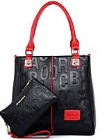 cheap -Women's Bags PU Bag Set 2 Pieces Purse Set Zipper for Casual All Seasons Blue White Black Red