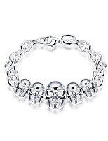 cheap -Men's Women's Chain Bracelet , Vintage Silver Plated Skull Jewelry Gift Daily