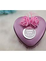 preiswerte -Herz Eisen vernickelt Geschenke Halter mit Muster / Druck Geschenkboxen - 1pc
