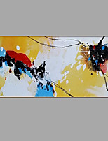 cheap -Hand-Painted Abstract Floral/Botanical Horizontal, Classic Modern Canvas Oil Painting Home Decoration One Panel